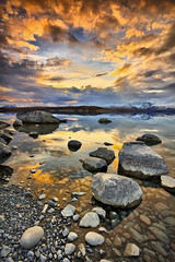 Sunset on Lake Tekapo (Pepeketua) Tags: new school winter sunset lake reflection water stone photoshop canon thomas zealand mackenzie filter nz 7d laurie 06 cps 1022mm hdr tekapo lightroom 10mm gnd dphdr mygearandmepremium mygearandmebronze mygearandmesilver mygearandmegold mygearandmeplatinum mygearandmediamond CPSNZ:Award=acceptance