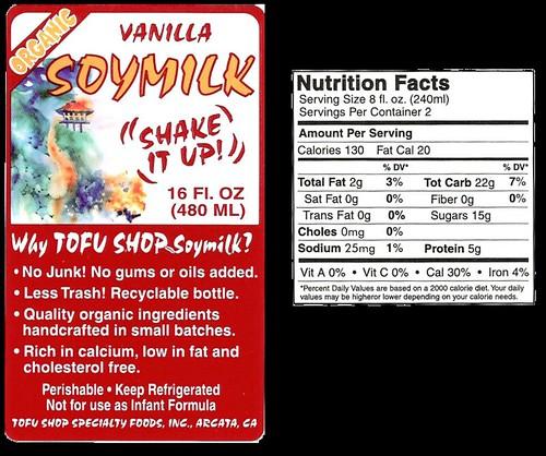 Vanilla soymilk
