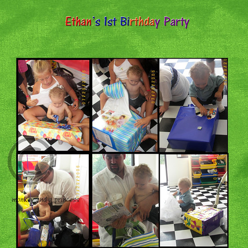 ethan first birthday page 1 with copyright