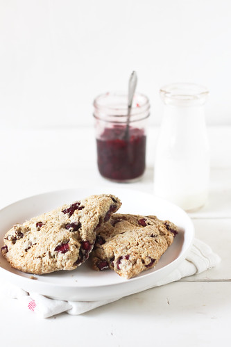 cherry & rosemary scones