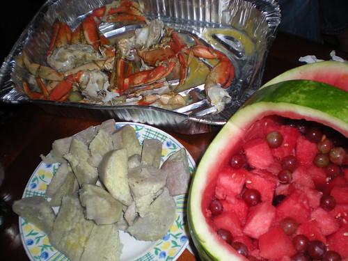 Remnants of dinner