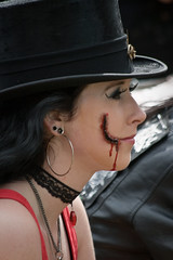 Castlefest 2010, Steampunk (Qsimple, Memories For The Future Photography) Tags: steampunk castlefest halfweg lisse nld netherlands provinciezuidholland castlefest2010 qsimple harvestfeastlughnasadh oogstfeestlughnasadh 2010 vanaevents attractive beautiful beauty elegance expression face facial fashion female girl glam glamour hairstyle lady look makeup model portrait pose sensuality sexy style stylish vamp woman young art closeup costume cute fairy fantasy fun looking mask masquerade mystery outdoors person pretty role theater women celtic dancing eyes colors festival armour costumes people medieval elf girls roleplay crowds castle fest music fair lastfm:event=1292423 renaissancefair