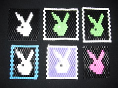 Hama beads (Lundebaby) Tags: pink blue red dog baby white inspiration snow man black green love yellow lady bronze silver easter gold beads kiss neon with purple heart loop egg valentine pearls smiley round playboy mann midi hama perler mnster koral dogprint snowmann