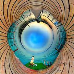 Guzelyali, Turkey (geopalstudio) Tags: panorama sunrise fisherman heart little tunnel 8mm hdr equirectangular digitalcameraclub samyang