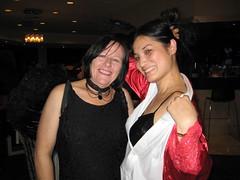 Me dressed as the Vampire's Deflowered Virgin and Keri Arthur as a dark angel