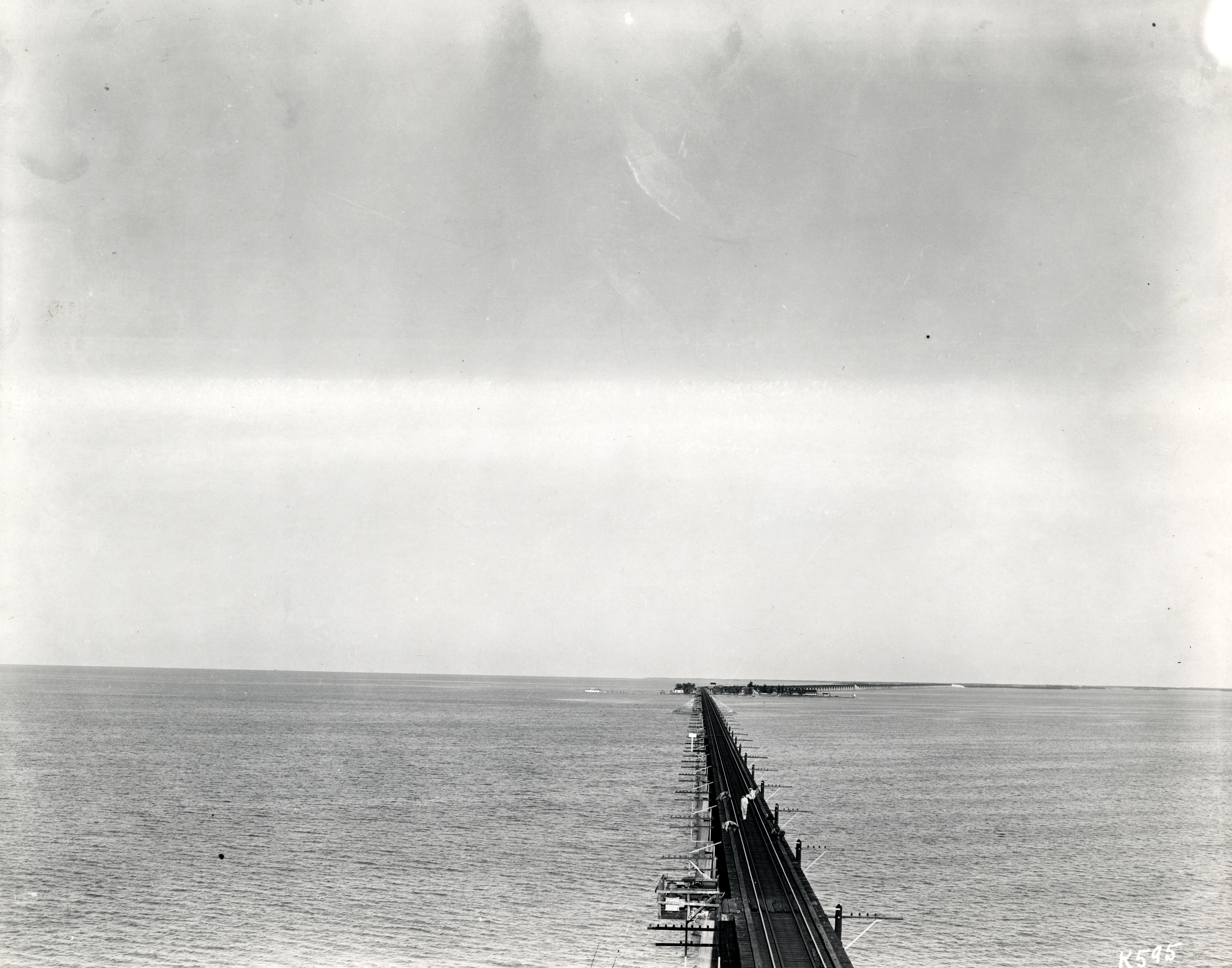Florida East Coast Railway, Key West Extension. Seven Mile Bridge. Gift of Ramon Davis. Retrieved from the Florida Keys Public Library.