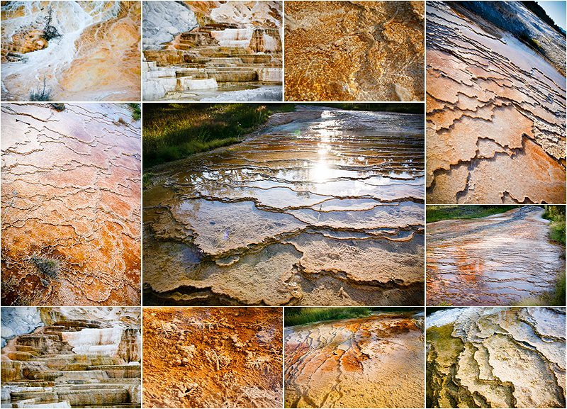 mammoth springs textures