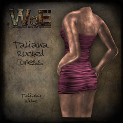 Tatiana Ruched Dress - Wine