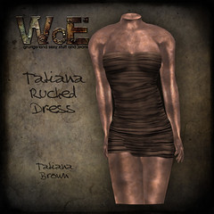 Tatiana Ruched Dress - Brown