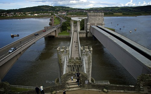 The Three Bridges To Conwy Castle