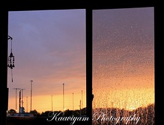 Nature's Art on my window |  !  ! ( Kaaviyam Photography) Tags: sunset usa sunlight house art window water rain photography lawrence drops rainyday balcony m myhouse raindrops kansas windowview windchimes randomvisions rainyclouds happyindependenceday colorfulevening myalltimefavsong kaaviyam kaaviyamphotography  naturespaintingonmywindow naturebeautifullypaintedmywindow naturesdoorpainting
