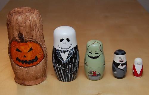 Geek Art Gallery: Crafts: Nightmare Before Christmas Dolls