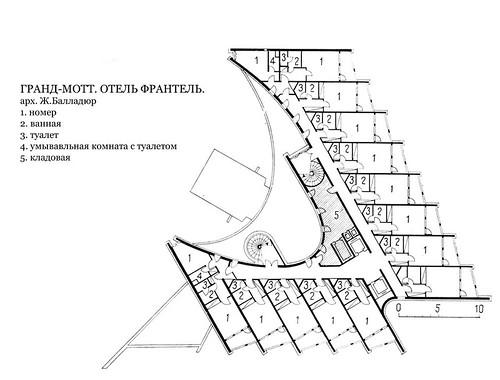 Гранд-Мотт, отель Франтель, план