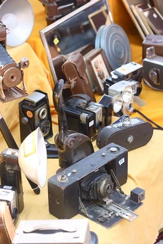 vintage camera explosion