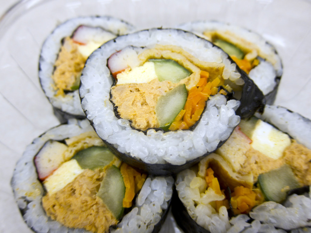 Bapcha Noodle Cart Spicy Tuna Kimbap