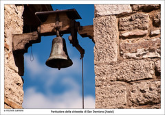 Campana di San Damiano (Assisi) (Michele Cannone) Tags: portrait religious catholic bell path walk happiness nun christian campana tau sentiero letizia suora ritratto cristiano assisi umbria franciscan cattolico religione sandamiano francescano perfettaletizia