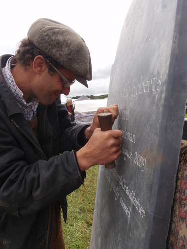 "Carving ""Robbie's"" Headstone at The North Devon Show"