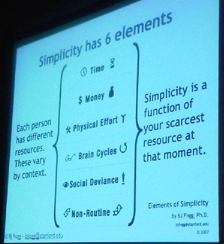 Simplicity has 6 elements slide