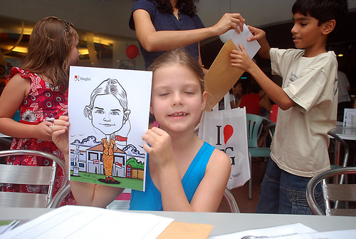 Caricature live sketching for The British Club and Singtel -6