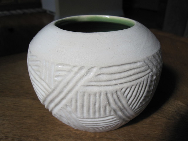 Handcarved pot