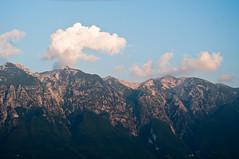 Alps in last light of day