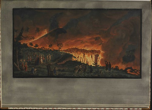 Plate 38, night view of eruption of Mt. Vesuvius