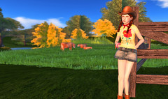 Farmboy (Beca Staheli) Tags: life gay boy tree cute hat clouds scarf fence ginger cowboy pretty cattle boots girly feminine avatar young crossdressing redhead teen human secondlife kawaii second pigtails trap av bangles effeminate androgynous bishonen prettyboy femboy femboi vaquerito