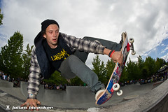Sunday August 22 15:04 (JulianBleecker) Tags: sport oregon unitedstates skateboarding competition skatepark northamerica sk8 skateboarder tigard shutterpriority 16mmf28 iso220 centerweightedaverage oregontrifecta tigardskatepark oregontrifecta2010 secatf11