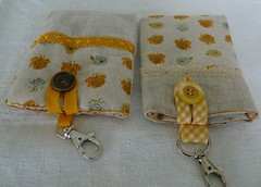 yellow pouches (+Eva+) Tags: cute yellow mobile ross phone handmade linen heather movil case mp3 cover pouch lino funda farfaraway
