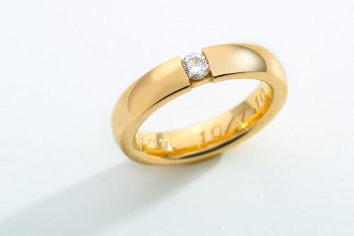Real gold, real diamond.
