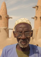 Imam of the Mosque at Kotaka, Mali (Chris G Images) Tags: africa portrait sahara mosque rebellion mali minarets touareg tuareg imam sahel kotaka azawagh azawad culturedusahara