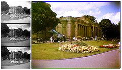 trichrome view of Weston Park Museum (pho-Tony) Tags: old blue red blackandwhite bw white 3 black color colour green home iso800 three 3d iso400 ishootfilm stereo filter lee 400 processing shutter push pan harris filters technicolor rgb effect triple lenticular ilford sergey trilogy combination separation archaic developing colorize technicolour threecolor postprocessing trichrome 3d1000 colourise filmisnotdead threecolour pse5 ilfotol trichromy trichromie harrisshuttereffect prokudingorsky threelens sergeyprokudingorsky ilfotol3 trilogy3d1000 uprate