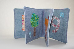 Bethan Rose's soft book (Mary-and-Tobit) Tags: handmade sewing craft denim babybook softbook upcycleddenim maryemmens