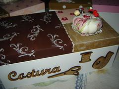 caixas costura (*RUSTIKA*) Tags: art altered de design mixed arte handmade craft porta fuxico mdf prata pedreira caixas costura alfinetes auxiliar costureiro rustika agulheiro agulga