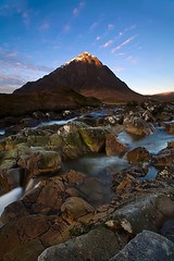Buachaille Etive Mr (David-Seras) Tags: mountain water sunrise canon landscape scotland shepherd hill scottish hills glencoe 5d 2009 1740mm 1740 munros 1740l glens buachailleetivemor