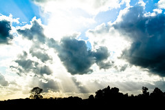 Nothing Beats A Good Sunburst (Oh beautiful world.) Tags: sky sun clouds sunburst ohbeautifulworld hannekevollbehr