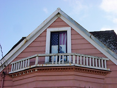 Dr. King (glennbphoto) Tags: sanfrancisco window flag guesswheresf foundinsf martinlutherkingjr