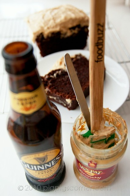 Guinness Chocolate Cake with Peanut Butter Frosting 2