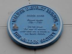 Photo of Edward Bright blue plaque