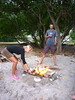 Beach Bonfire with Ben and Annamieke from Blauwe Pinquin, Taiohae Bay, Nuku Hiva