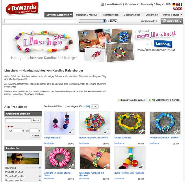 Linsche's Online Shop auf DaWanda.de