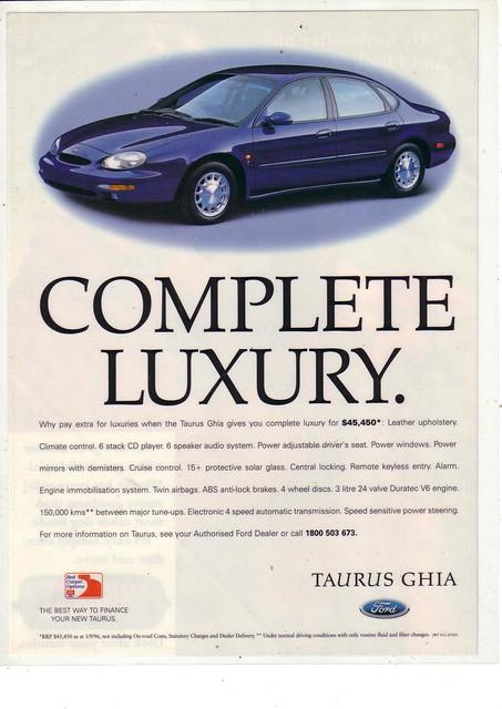 1996 australia fordtaurusghia