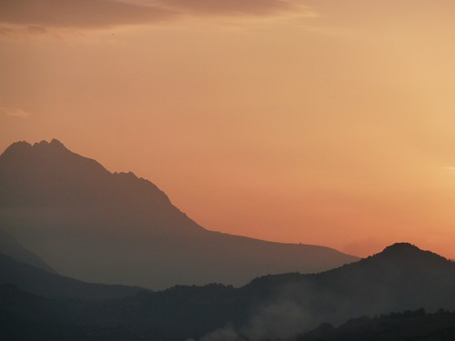 Sunset over the Gran Sasso