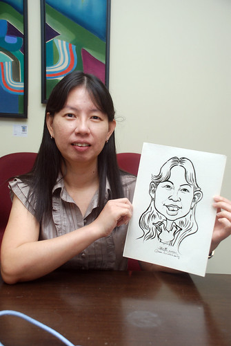 Caricature live sketching @ UOB Finance Division - 3