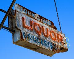 John's Bar (scott_z28) Tags: old sign bar mi vintage pub rust neon decay michigan liquor tavern weathered groceries johns patina baycity tricities munger tuscola