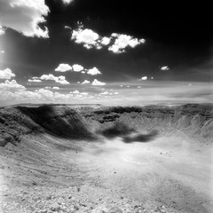 Day 14: Meteor Crater, Arizona (Dr. RawheaD) Tags: digital zeiss f45 hasselblad crater carl infrared aura meteor pro1 38mm efke r72 biogon kenko swcm arzona d76stock ir820 summertrip2010