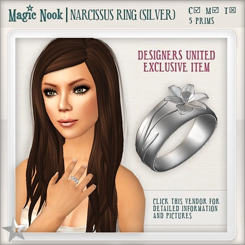 [MAGIC NOOK] Narcissus Ring (Silver) Vendor