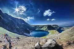 "Rila Mountain, Lake ""The Eye"" (geopalstudio) Tags: mountain lake eye fisheye bulgaria rila"