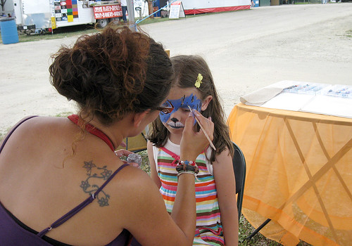 Westmoreland County Fair 2010:  Face paintin'.