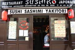 Paris -- Sushi Restaurant (ElishaBrady) Tags: people paris france sushi restaurant ledefrance rpubliquefranaise frenchrepublic